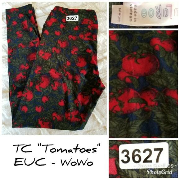 Lularoe Pants 3627 Leggings Tc Tomatoes Htf Poshmark